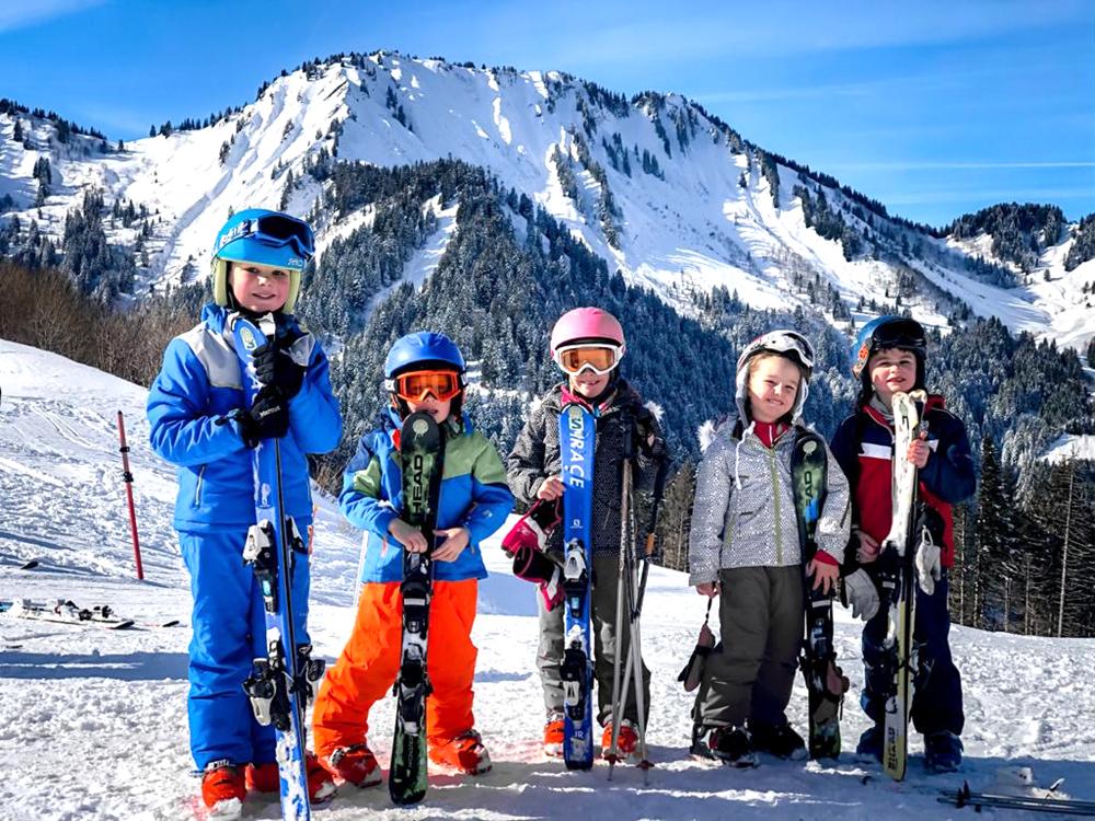 French ski chalet with nanny